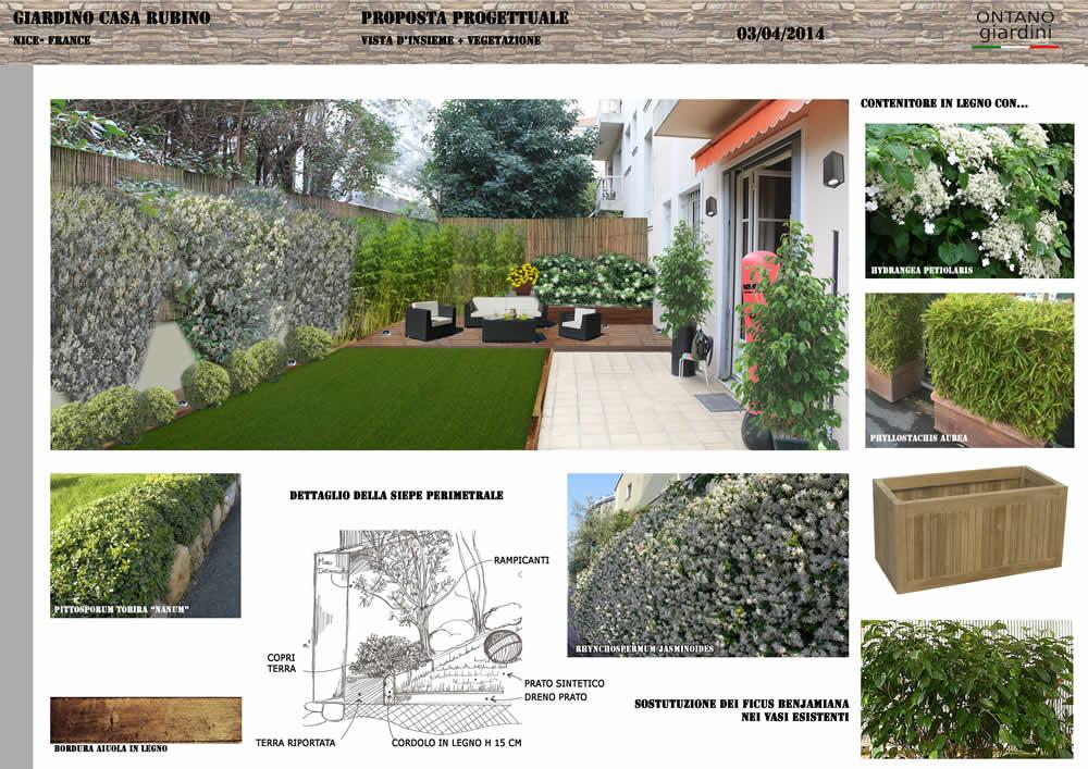 Progettazione e realizzazione di un piccolo giardino for Rendering giardino