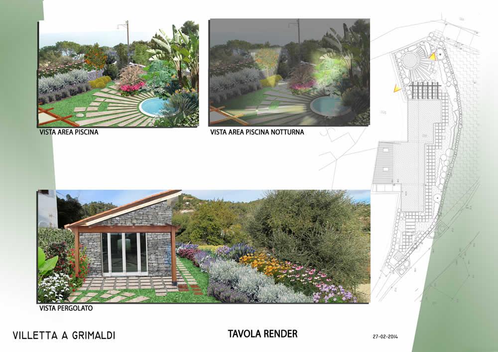 Progettazione e realizzazione di un giardino di una - Progetto piccolo giardino ...