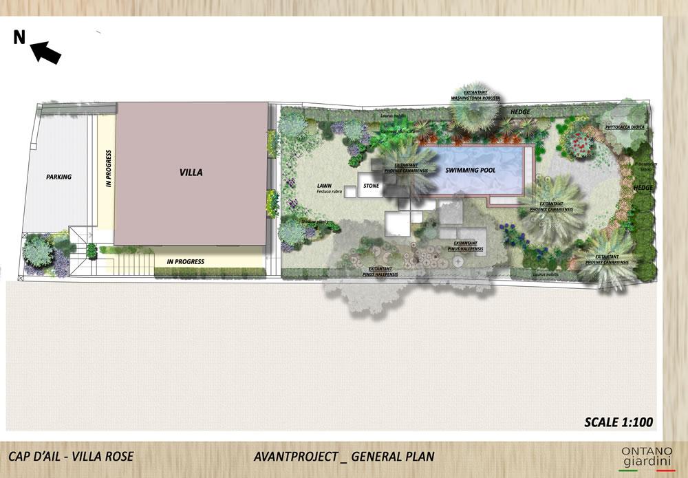 Progettazione giardino a cap d 39 ail ercole progettazione for Progetto giardino villetta