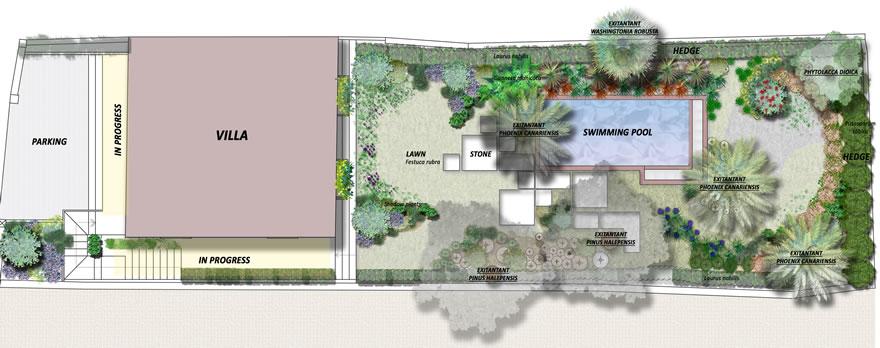 Sistemazione giardino privato te26 pineglen - Giardini privati progetti ...