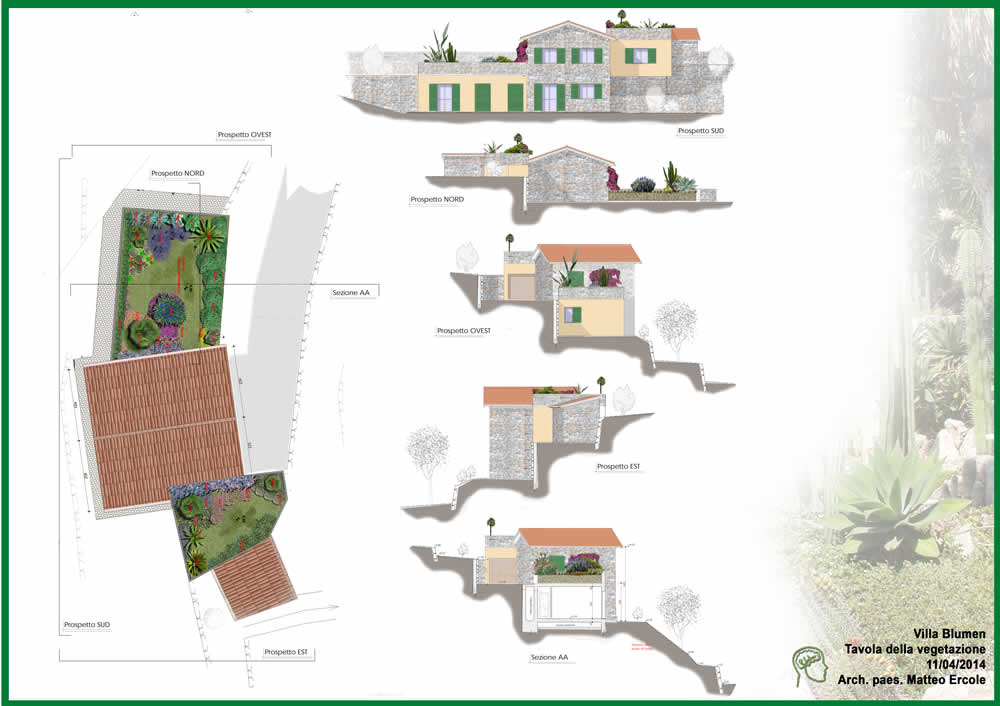 Progettazione di un giardino pensile e della sistemazione for Sistemazione giardino