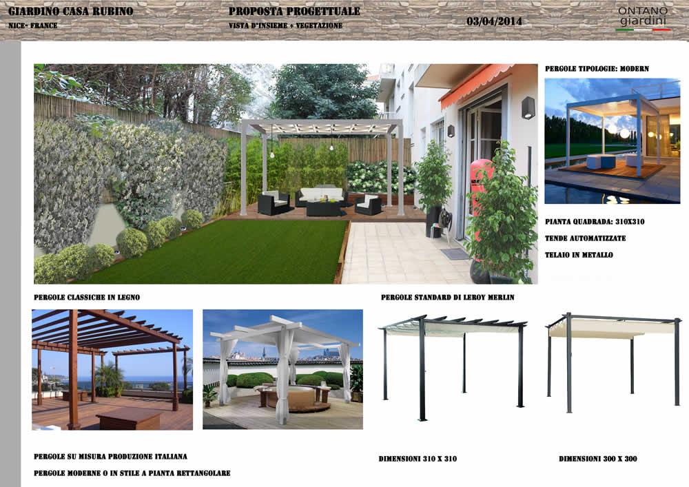 Progettazione e realizzazione di un piccolo giardino privato a nizza ercole progettazione - Progetti giardino per villette ...
